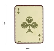 101 Inc. - Naszywka 3D - Ace Of Clubs - Coyote
