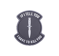 GFC - Naszywka 3D - If I Tell You I Have To Kill You - zielony