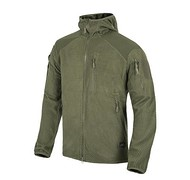 Helikon - Bluza ALPHA HOODIE - Grid Fleece - Olive Green