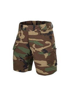 "HELIKON - Spodnie UTS (Urban Tactical Shorts) 8.5"" - PolyCotton Ripstop - US Woodland - L/R"