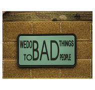 JTG - Naszywka 3D - We Do Bad Things To Bad People - Foliage