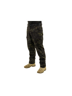Spodnie Ergonomic Fit Long (32W) - MultiCam Black [EmersonGear]